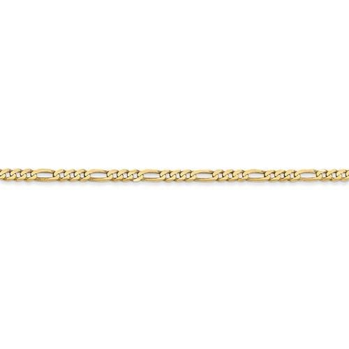 2.70mm Flat Figaro Chain - Happy Jewelers Fine Jewelry Lifetime Warranty
