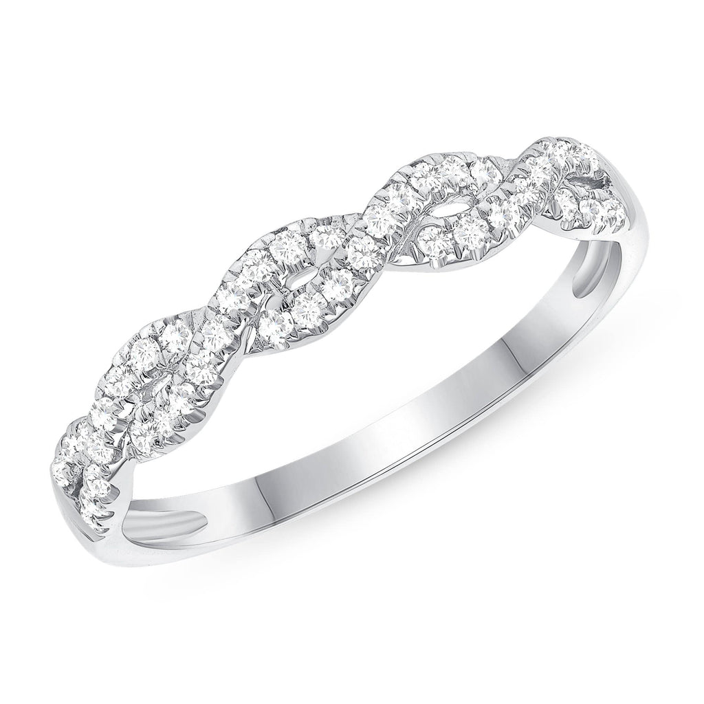 Infinity Diamond 1/2 Way Band - Happy Jewelers Fine Jewelry Lifetime Warranty