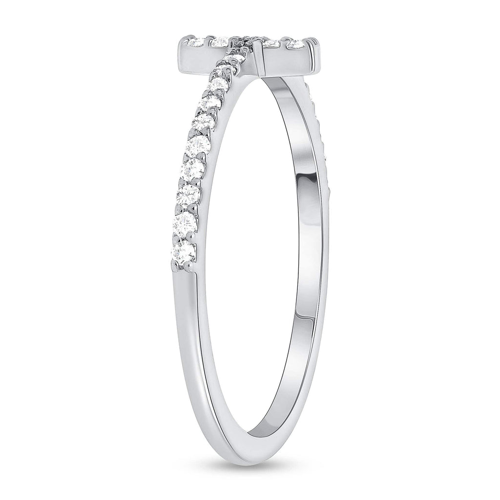 Skinny Diamond Cross Ring - Happy Jewelers Fine Jewelry Lifetime Warranty