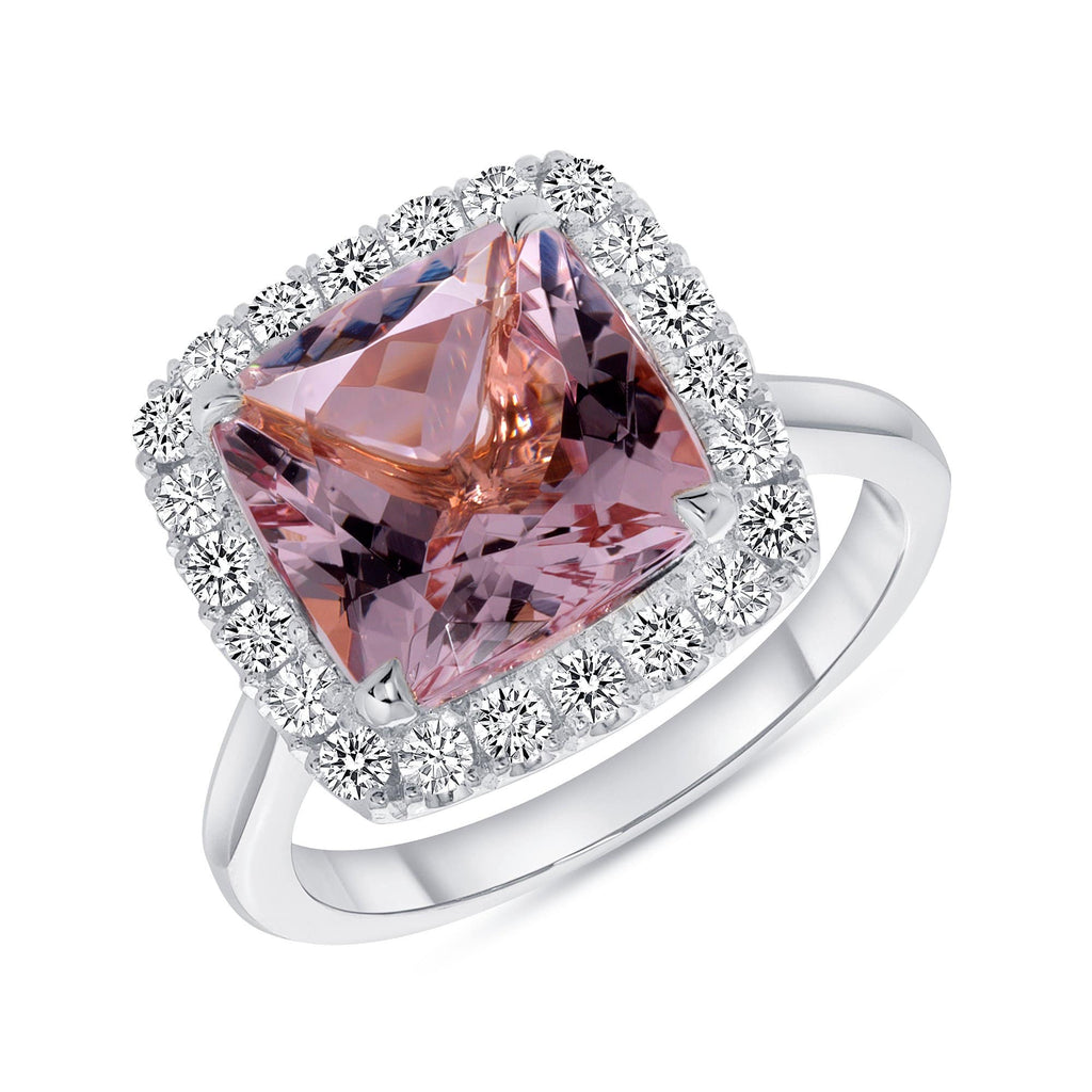 Cushion Morganite - Happy Jewelers Fine Jewelry Lifetime Warranty