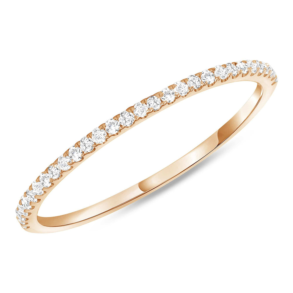Thin 1.3mm Stackable Diamond Band - Happy Jewelers Fine Jewelry Lifetime Warranty