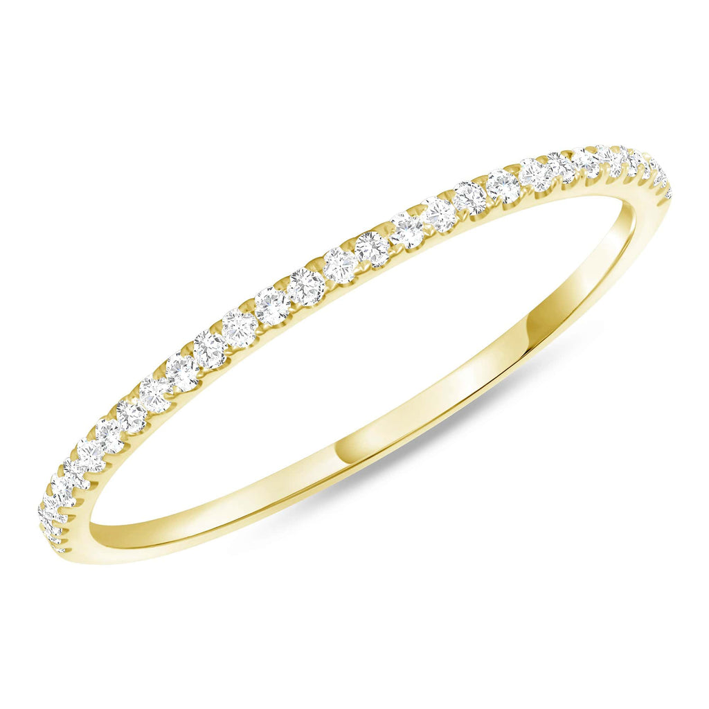 Thin 1.3mm Stackable Diamond Band - Happy Jewelers