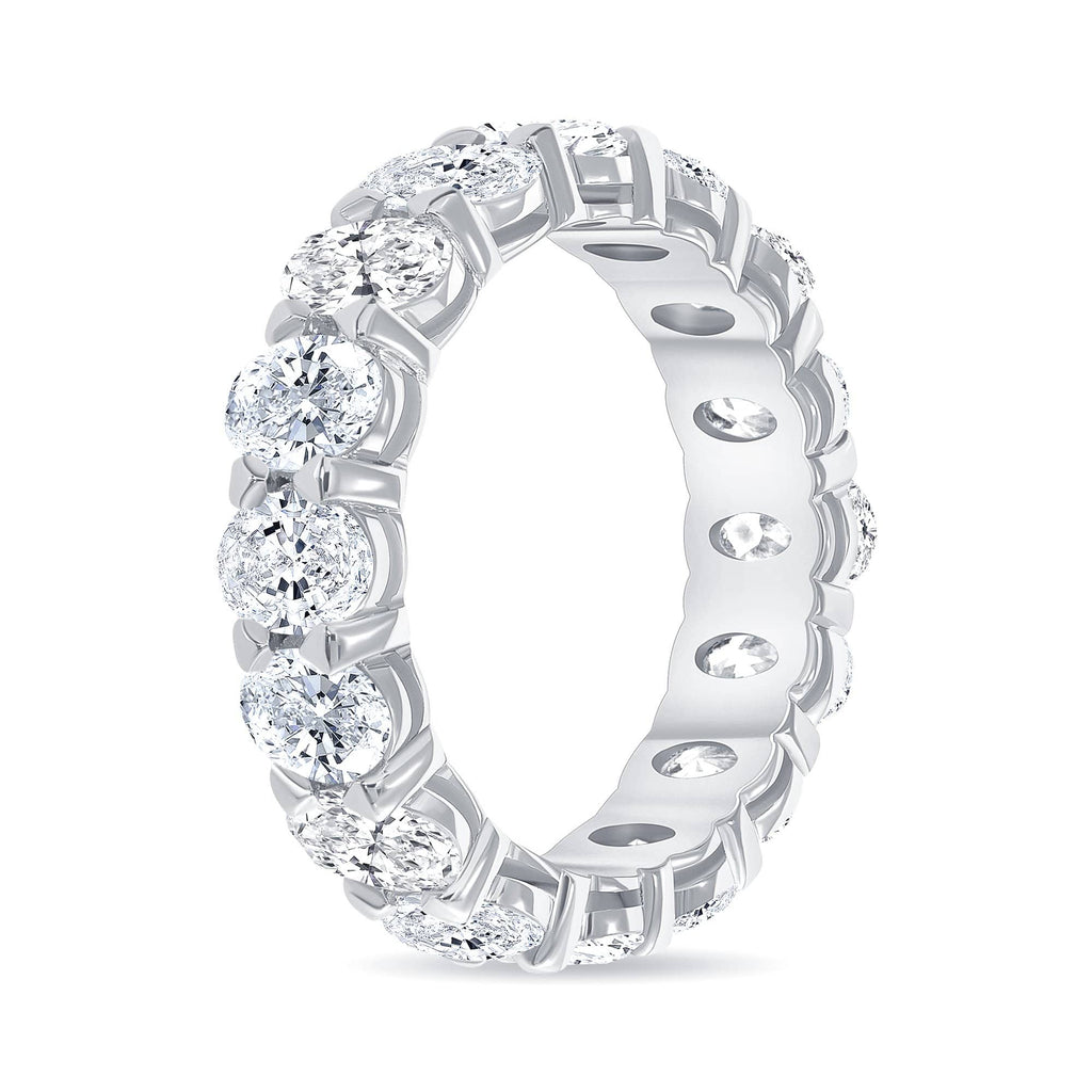 Oval Diamond Eternity Band w/ .50 Stones - Happy Jewelers Fine Jewelry Lifetime Warranty