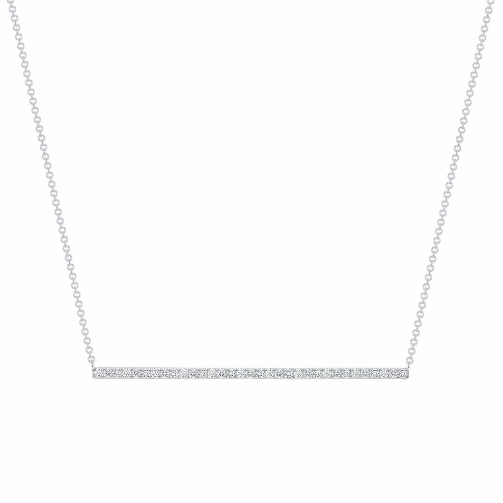 Diamond Bar Necklace - Happy Jewelers Fine Jewelry Lifetime Warranty