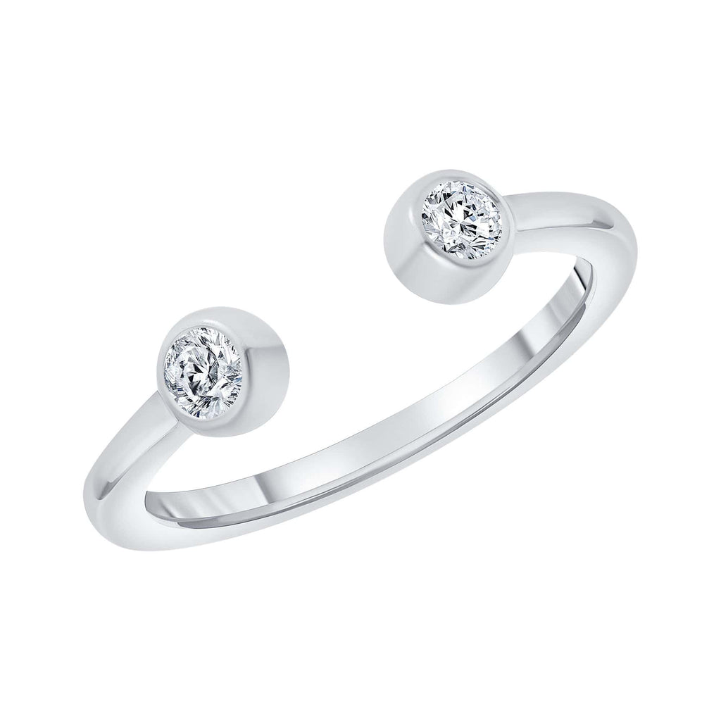 Diamond Open Ring - Happy Jewelers Fine Jewelry Lifetime Warranty