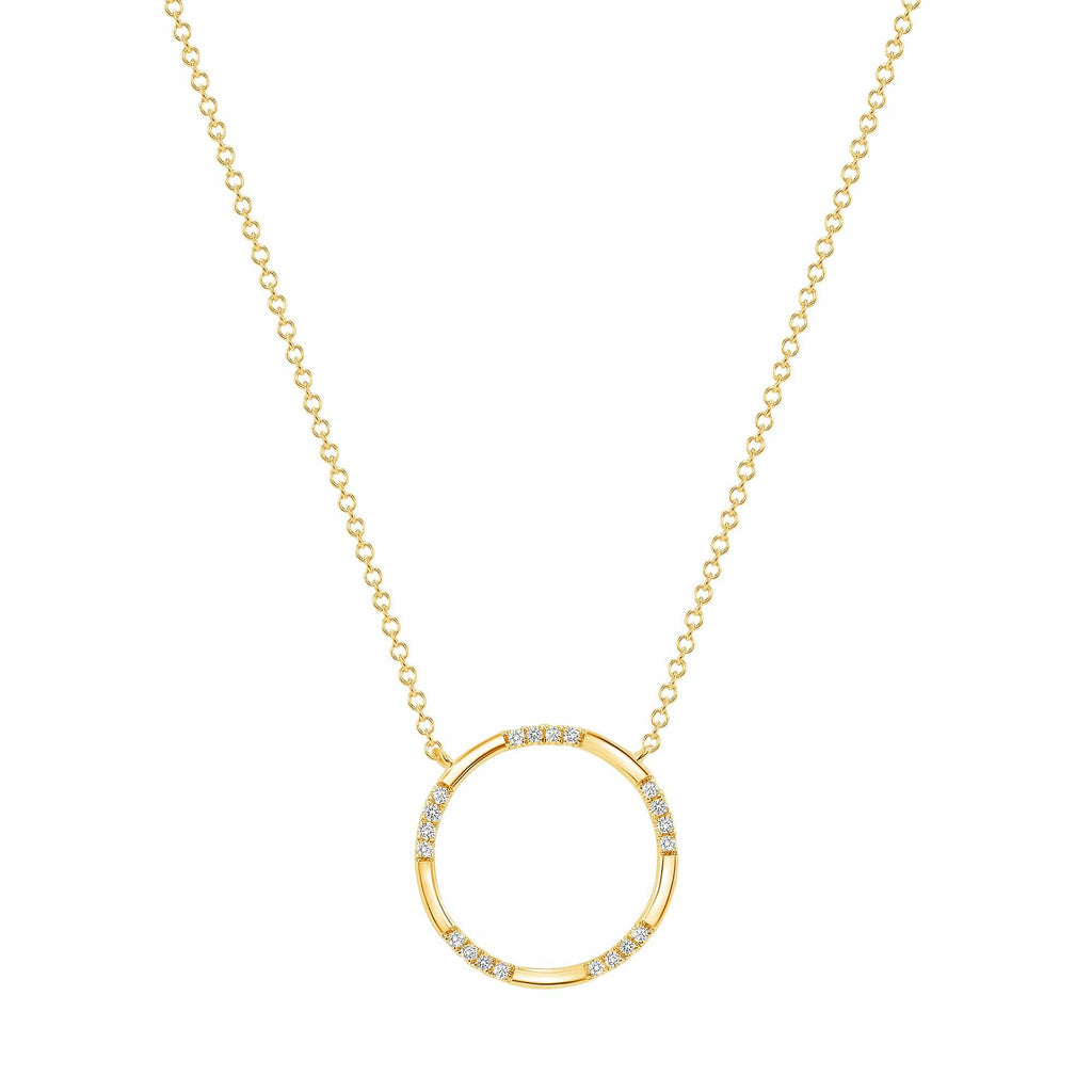Dainty Circle Pendant - Happy Jewelers Fine Jewelry Lifetime Warranty