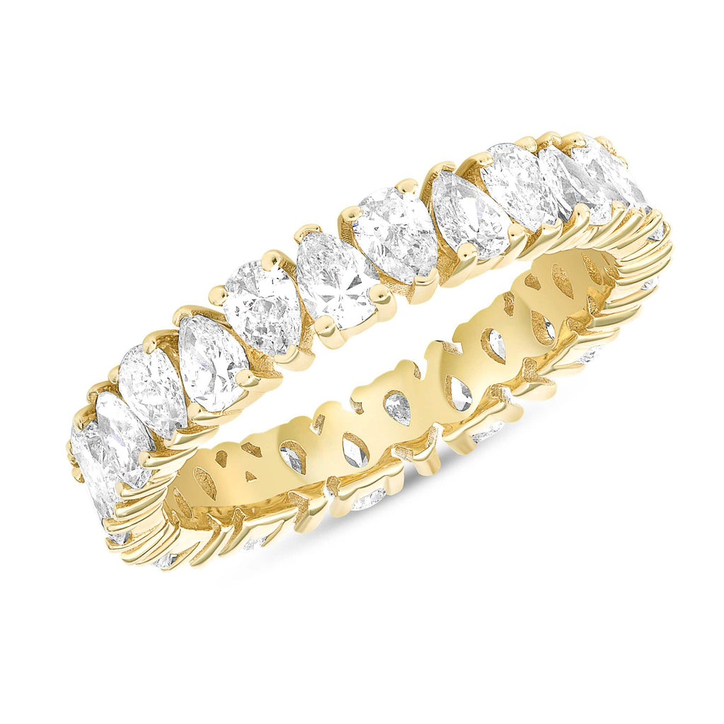 Opposite Pear-Shape Diamond Eternity Band - Happy Jewelers Fine Jewelry Lifetime Warranty