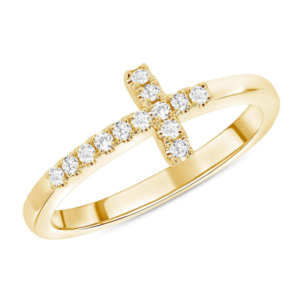 Mini Sideways Cross Ring - Happy Jewelers Fine Jewelry Lifetime Warranty