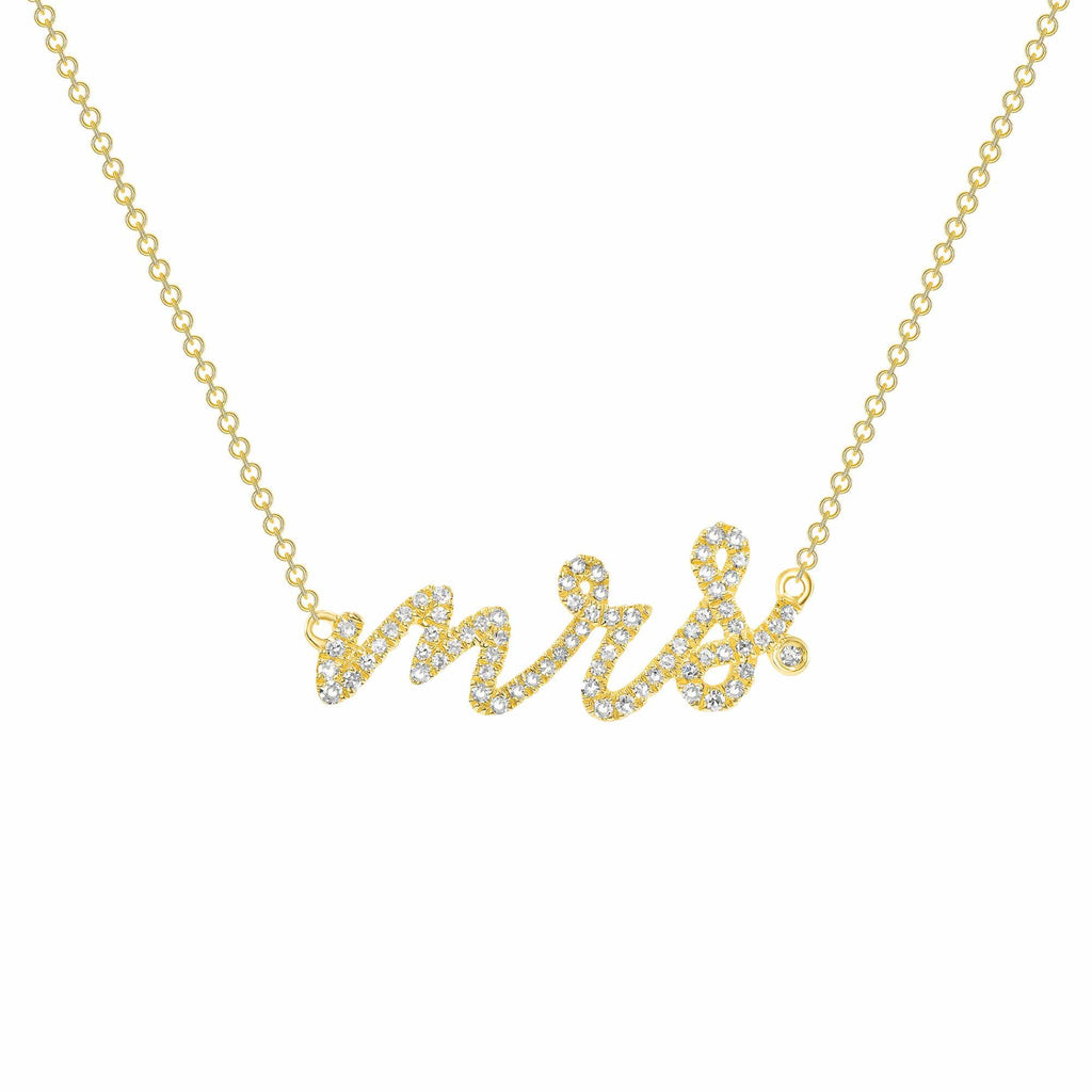 Diamond Mrs. Necklace - Happy Jewelers Fine Jewelry Lifetime Warranty