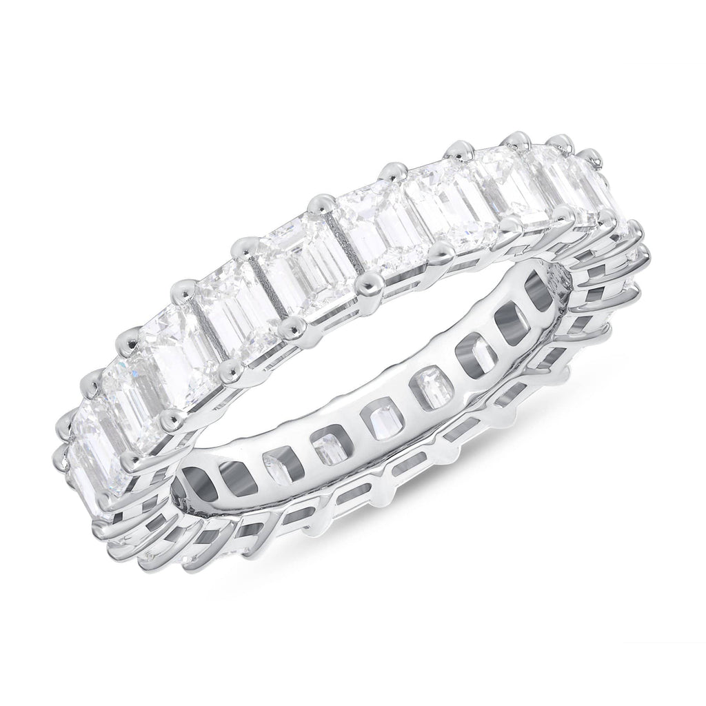 5.3mm Emerald Eternity Band - Happy Jewelers Fine Jewelry Lifetime Warranty