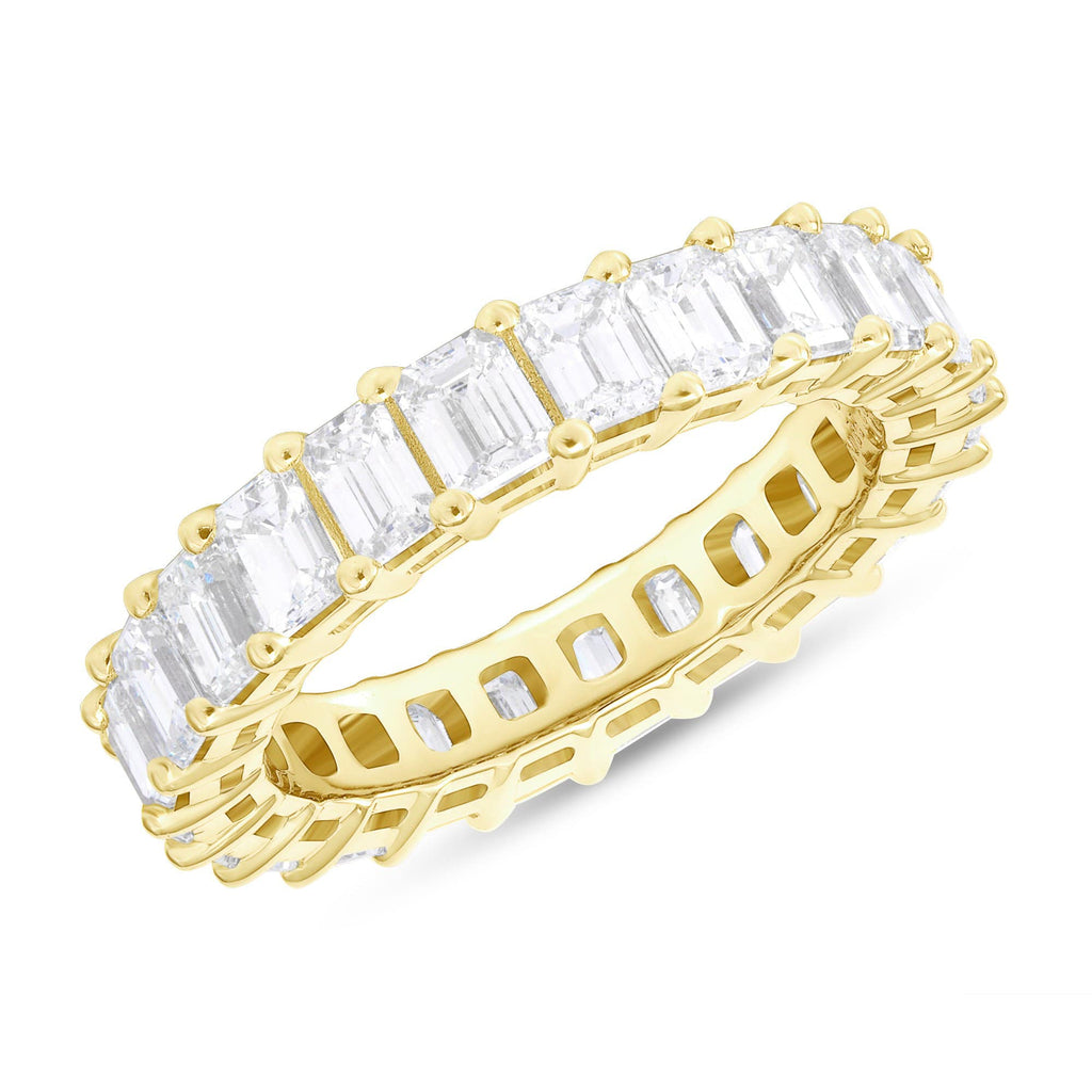 5.3mm Emerald Eternity Band - Happy Jewelers