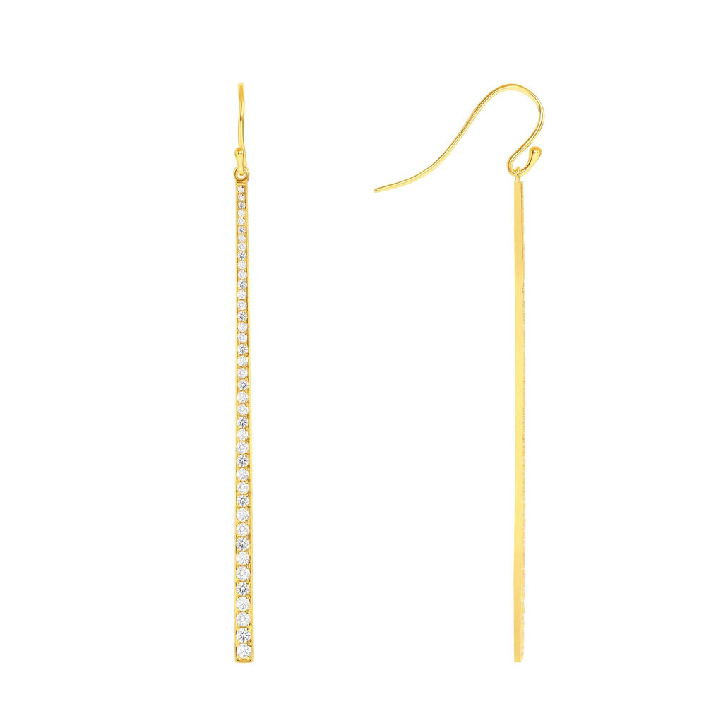 Diamond Dangle Earring - Happy Jewelers Fine Jewelry Lifetime Warranty
