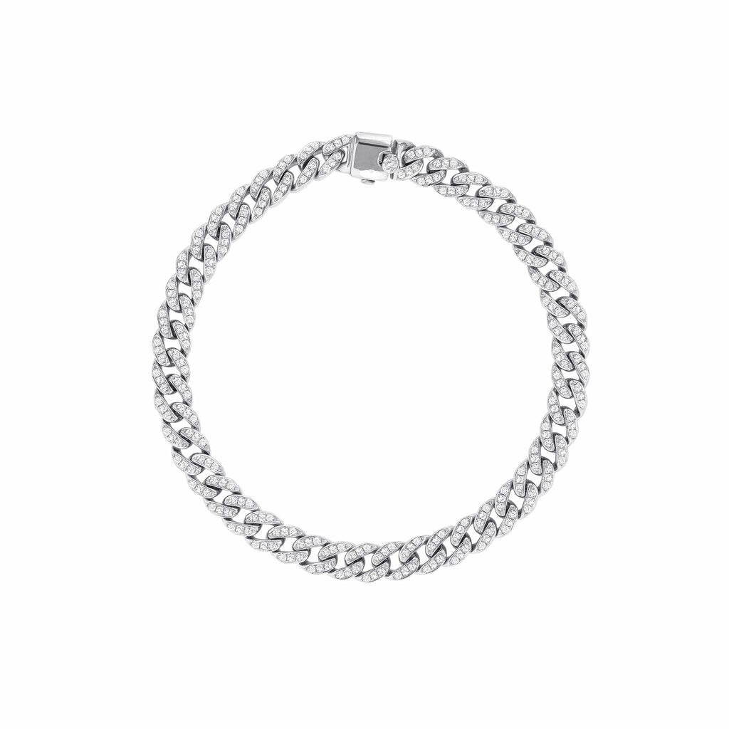 5.8mm Diamond Cuban Bracelet - Happy Jewelers Fine Jewelry Lifetime Warranty