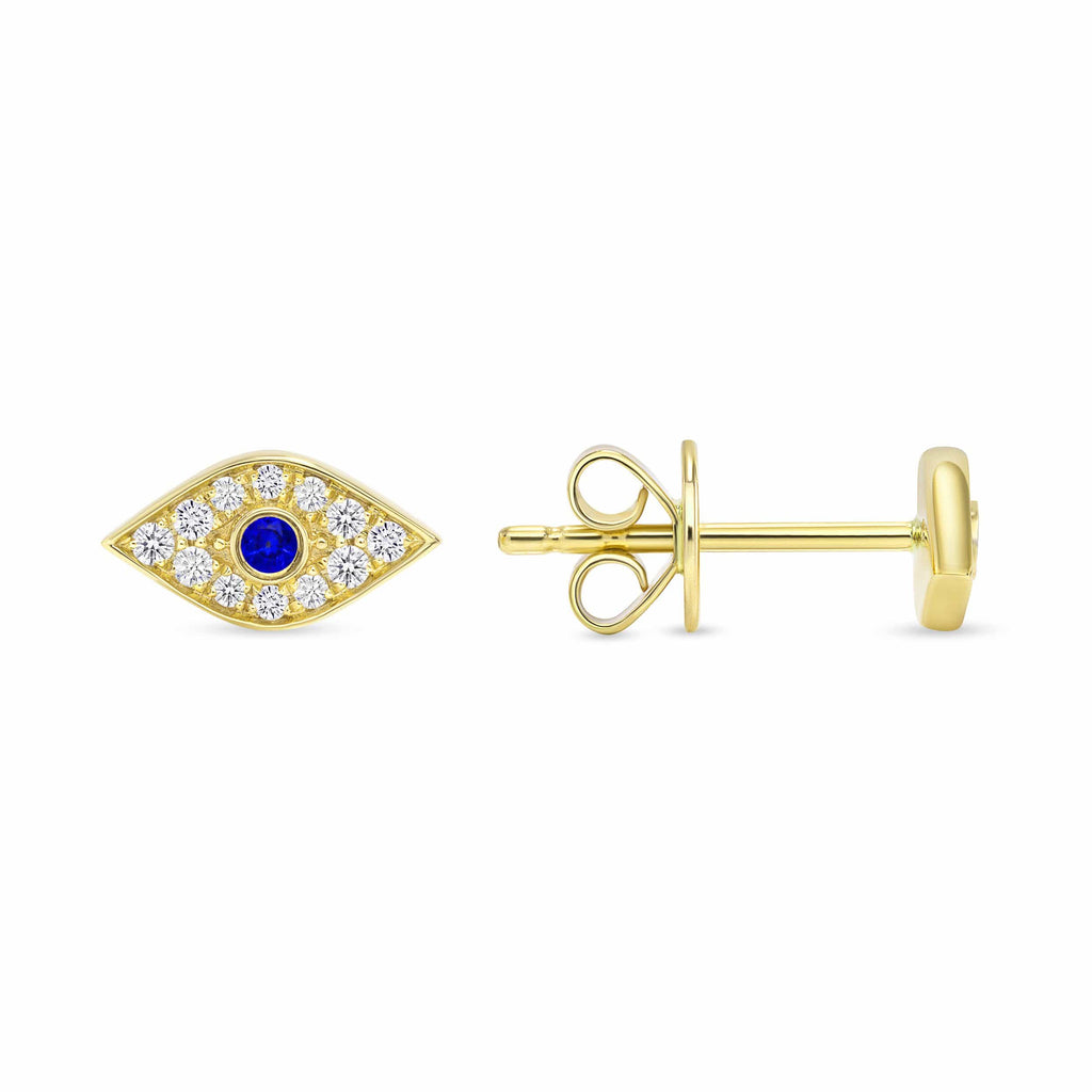 Evil Eye Studs - Happy Jewelers Fine Jewelry Lifetime Warranty