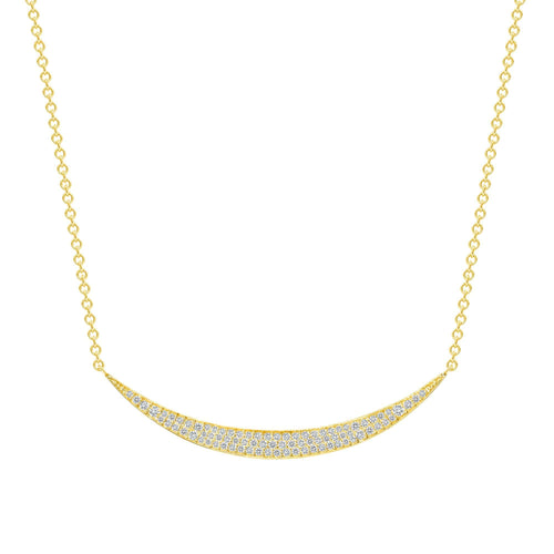 Diamond Crescent Moon Neckalce - Happy Jewelers Fine Jewelry Lifetime Warranty