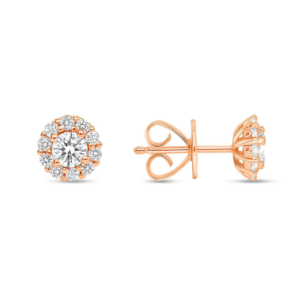 Diamond Halo Studs - Happy Jewelers Fine Jewelry Lifetime Warranty