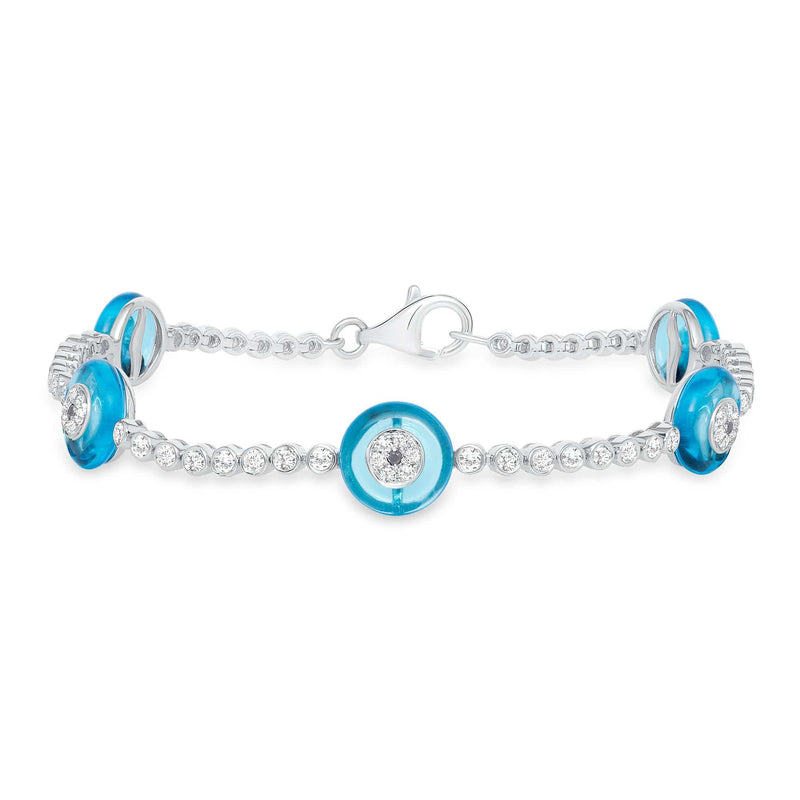 Evil Eye Tennis Bracelet - Happy Jewelers Fine Jewelry Lifetime Warranty