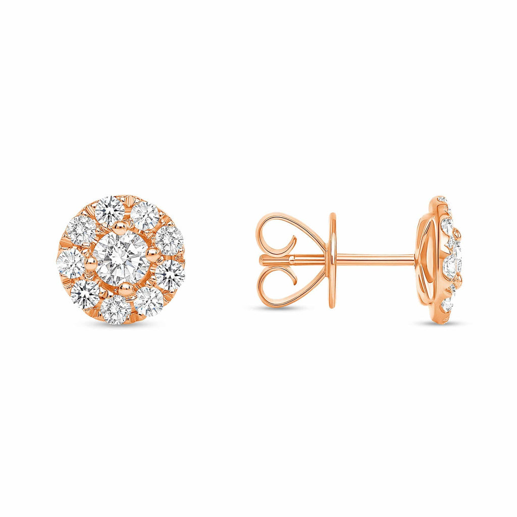 Round Brilliant Diamond w/ Halo Studs - Happy Jewelers Fine Jewelry Lifetime Warranty