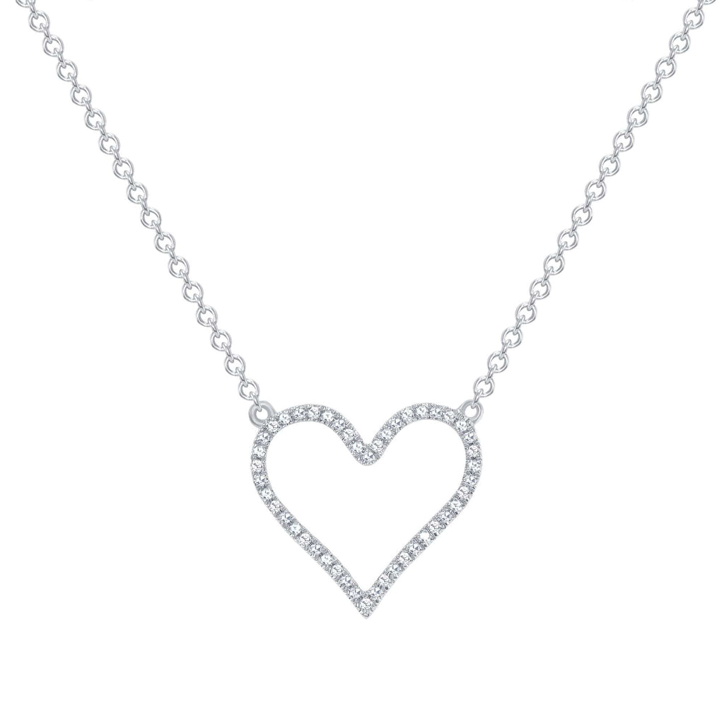 Open Heart Diamond Necklace - Happy Jewelers Fine Jewelry Lifetime Warranty