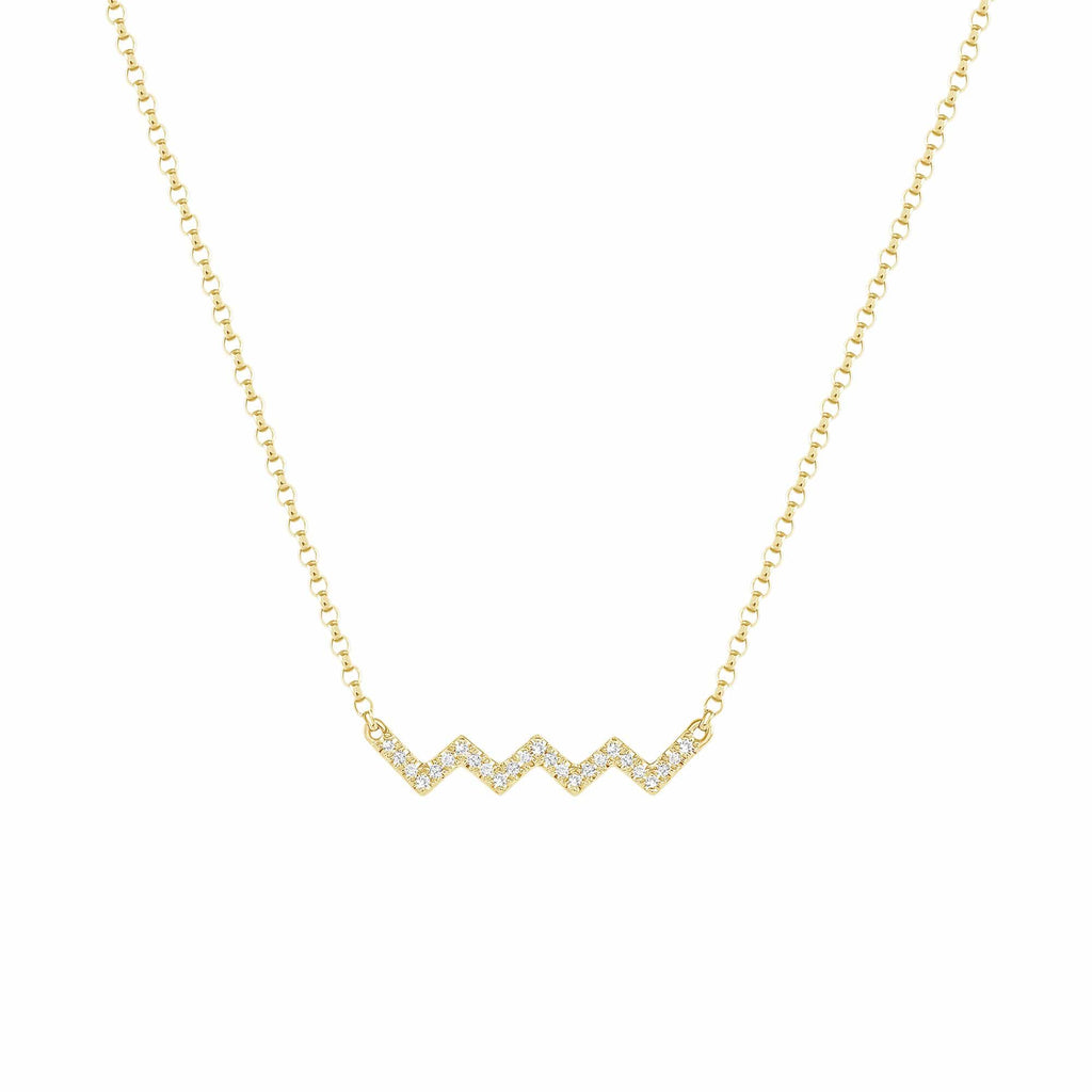 Zig Zag Diamond Necklace - Happy Jewelers Fine Jewelry Lifetime Warranty