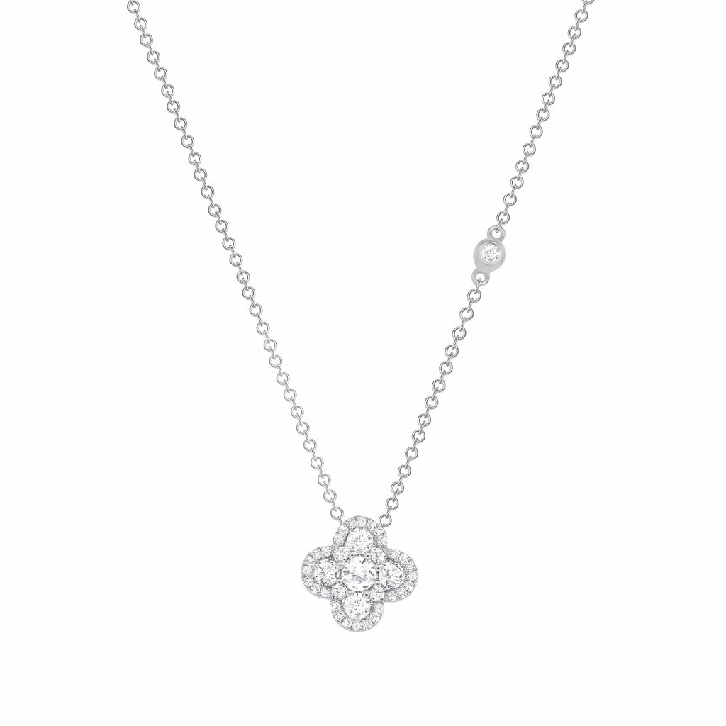 Diamond Floral Pendant - Happy Jewelers Fine Jewelry Lifetime Warranty