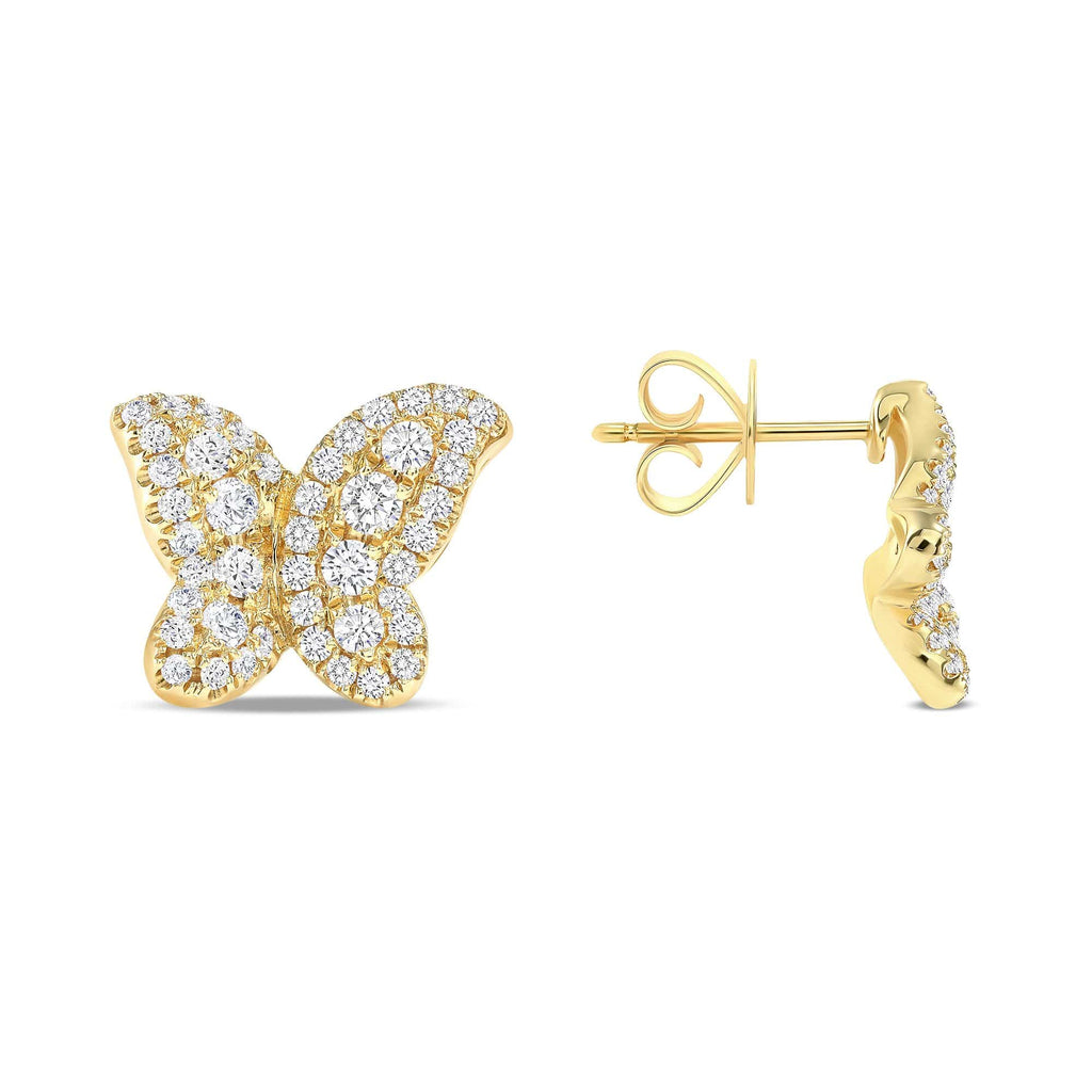 Diamond Butterfly Studs - Happy Jewelers Fine Jewelry Lifetime Warranty