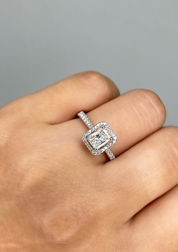 Engagement Ring Special 0.73 Radiant Cut Diamond - Happy Jewelers Fine Jewelry Lifetime Warranty