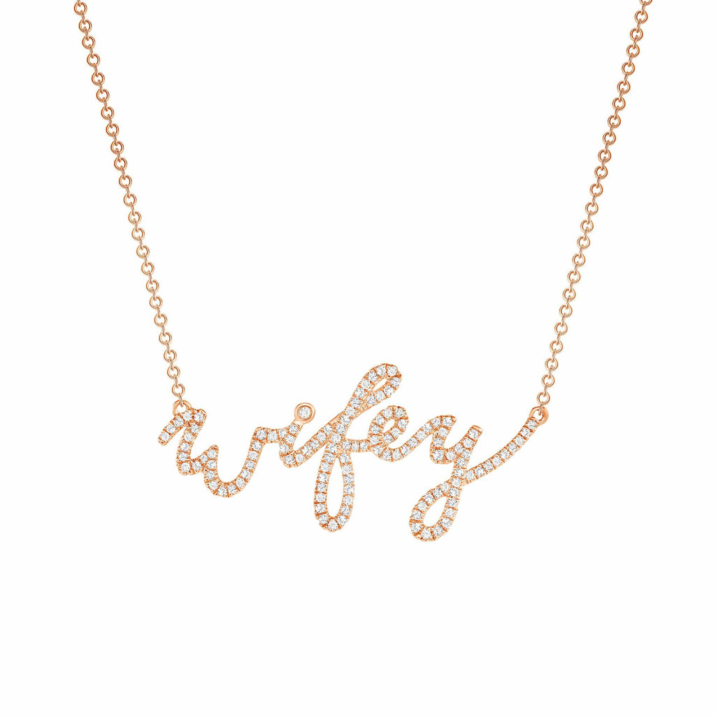 Diamond Wifey Necklace - Happy Jewelers Fine Jewelry Lifetime Warranty