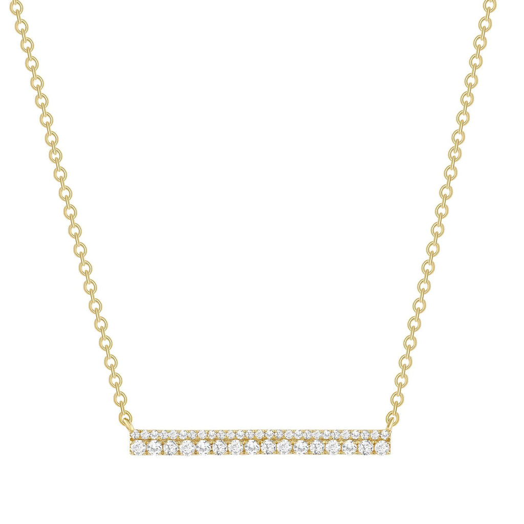 2-Row Diamond Bar Necklace - Happy Jewelers Fine Jewelry Lifetime Warranty