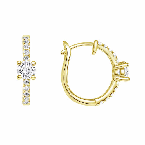The Chloe Hoops - Happy Jewelers Fine Jewelry Lifetime Warranty