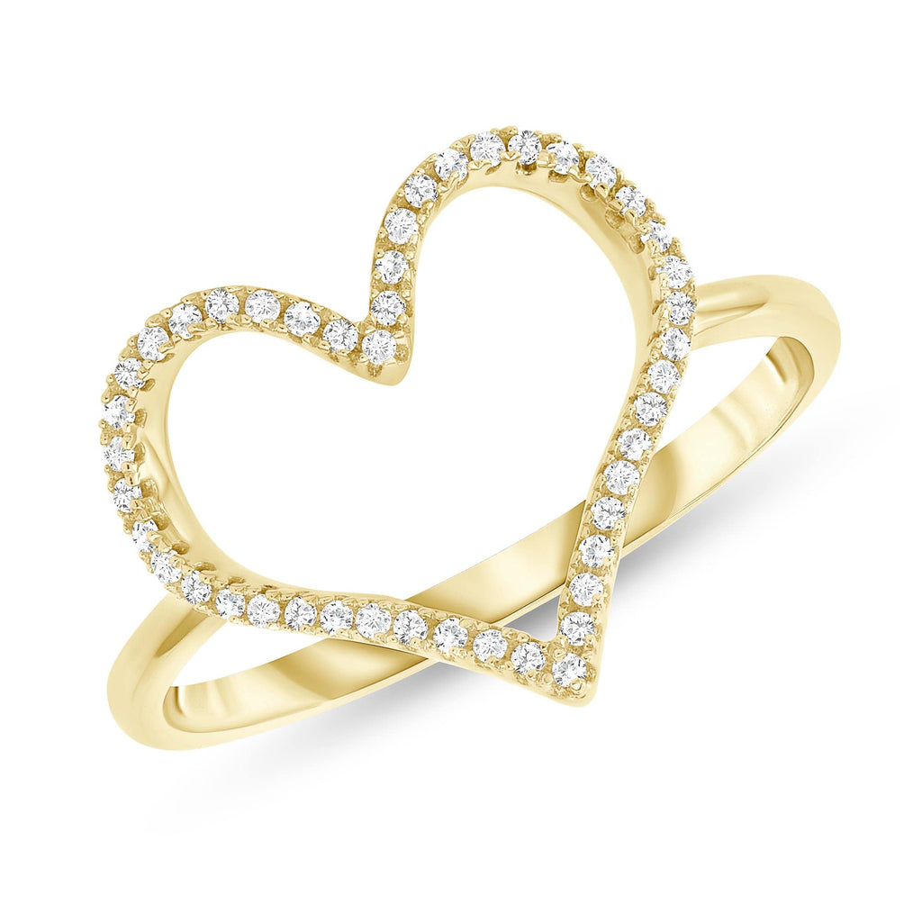 Open Heart Diamond Ring - Happy Jewelers Fine Jewelry Lifetime Warranty