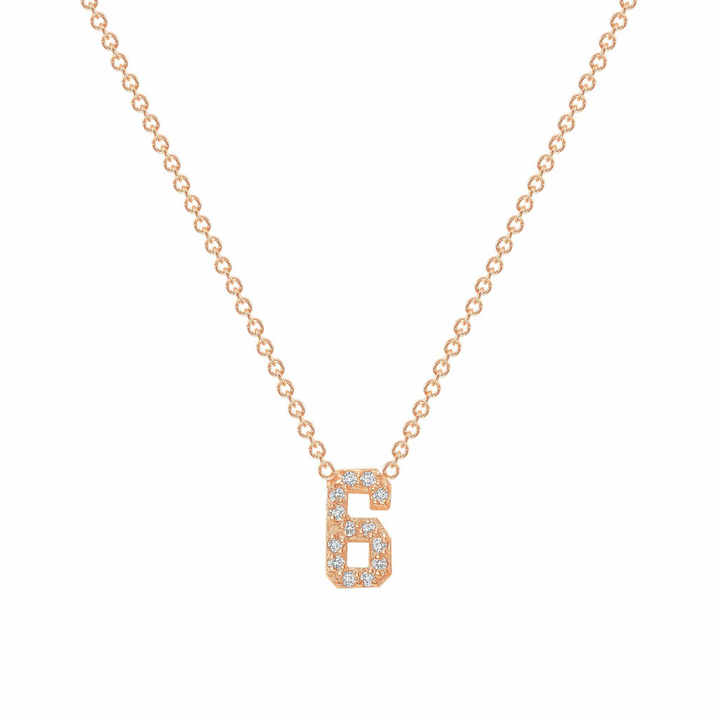 Diamond Number Necklace