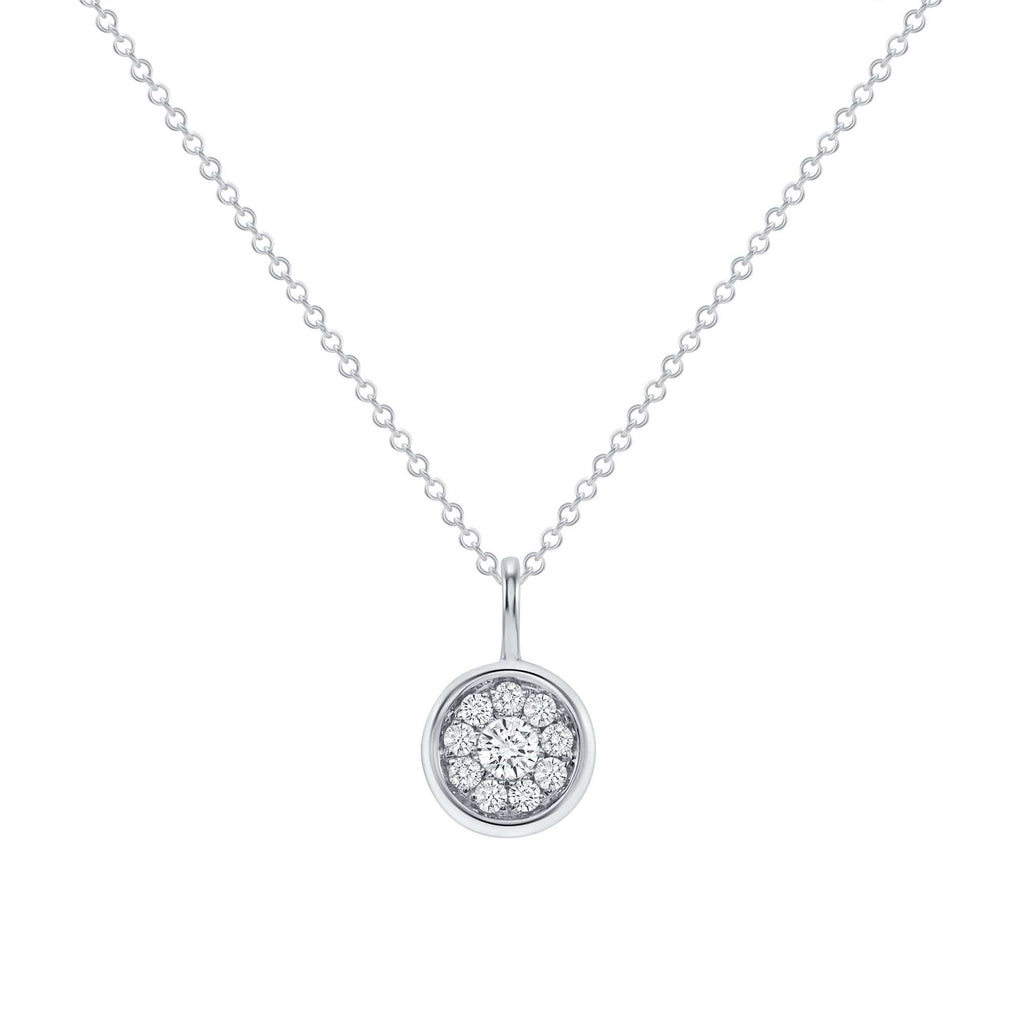 Diamond Halo Pendant - Happy Jewelers Fine Jewelry Lifetime Warranty