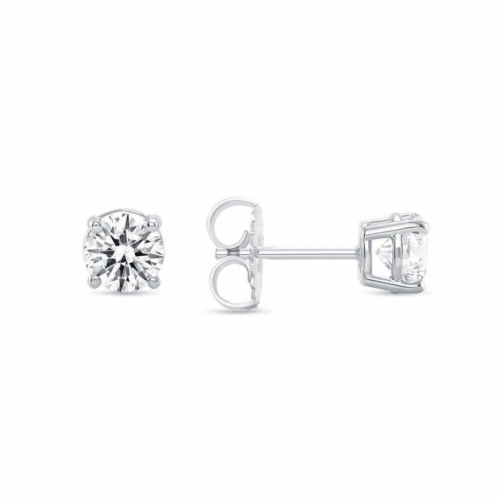 Round Brilliant Diamond Studs - Happy Jewelers Fine Jewelry Lifetime Warranty