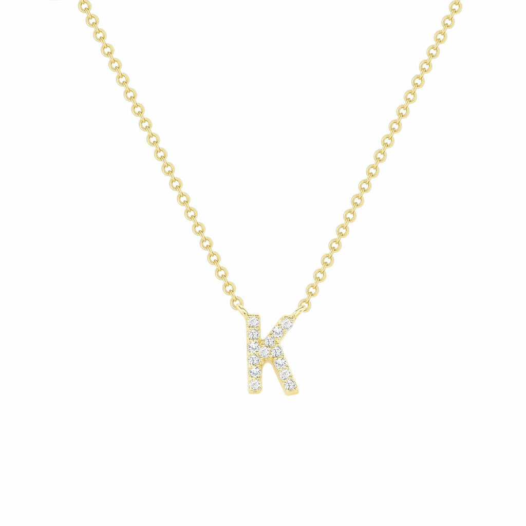 Small Diamond Initial Necklace - Happy Jewelers Fine Jewelry Lifetime Warranty