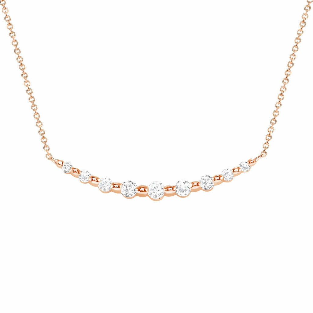 Shared Prong Diamond Necklace - Happy Jewelers