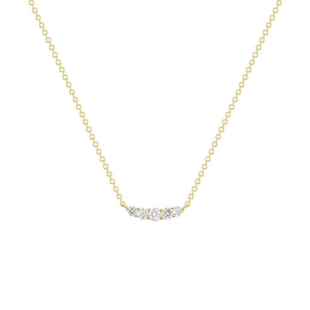 Dainty 5 Diamond Pendant - Happy Jewelers Fine Jewelry Lifetime Warranty