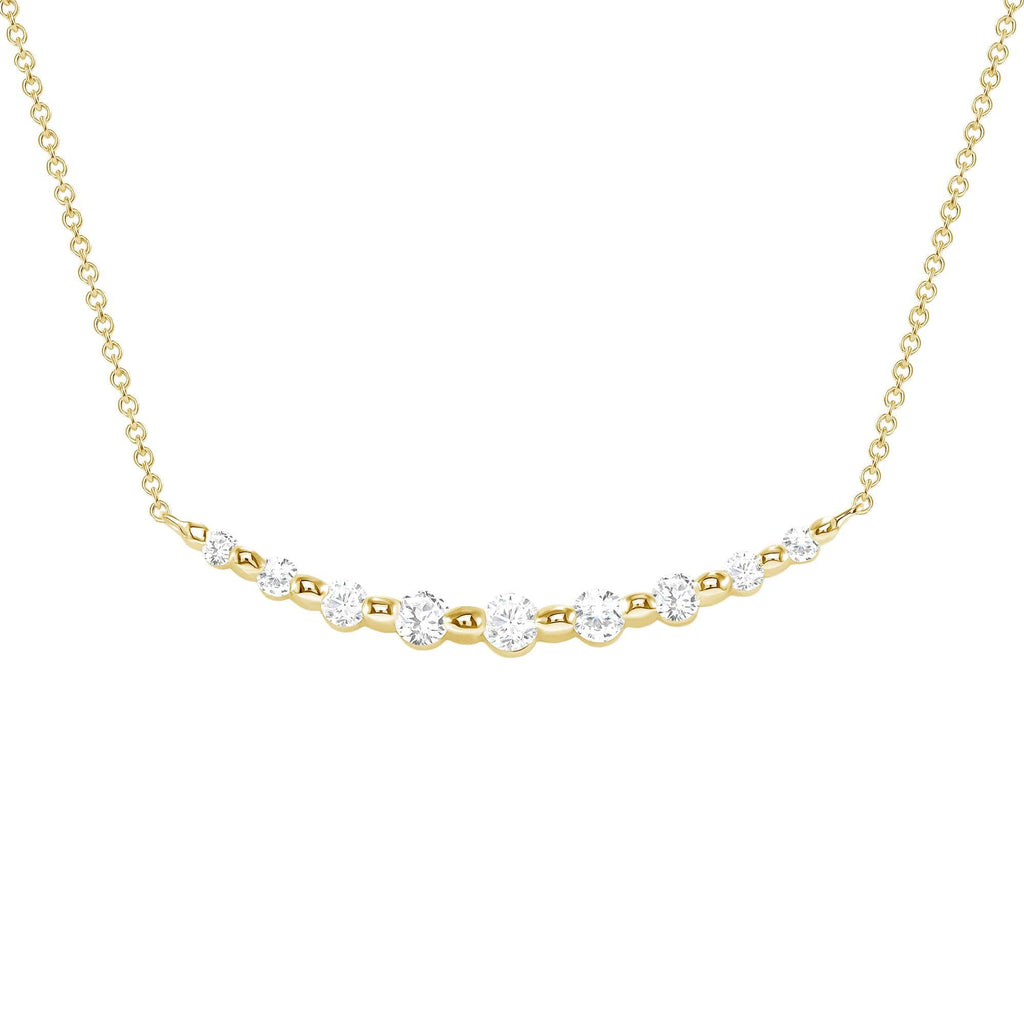 Shared Prong Diamond Necklace - Happy Jewelers Fine Jewelry Lifetime Warranty