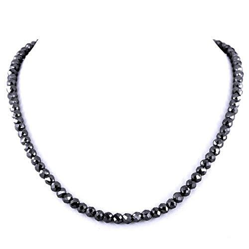 Black Diamond Men's Necklace - Happy Jewelers Fine Jewelry Lifetime Warranty