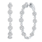 Oval Daisy Hoops - Happy Jewelers Fine Jewelry Lifetime Warranty