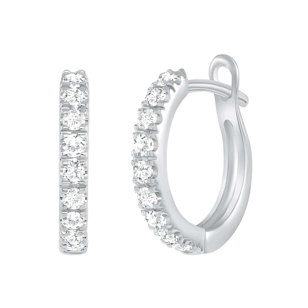 Diamond Huggies - Happy Jewelers Fine Jewelry Lifetime Warranty