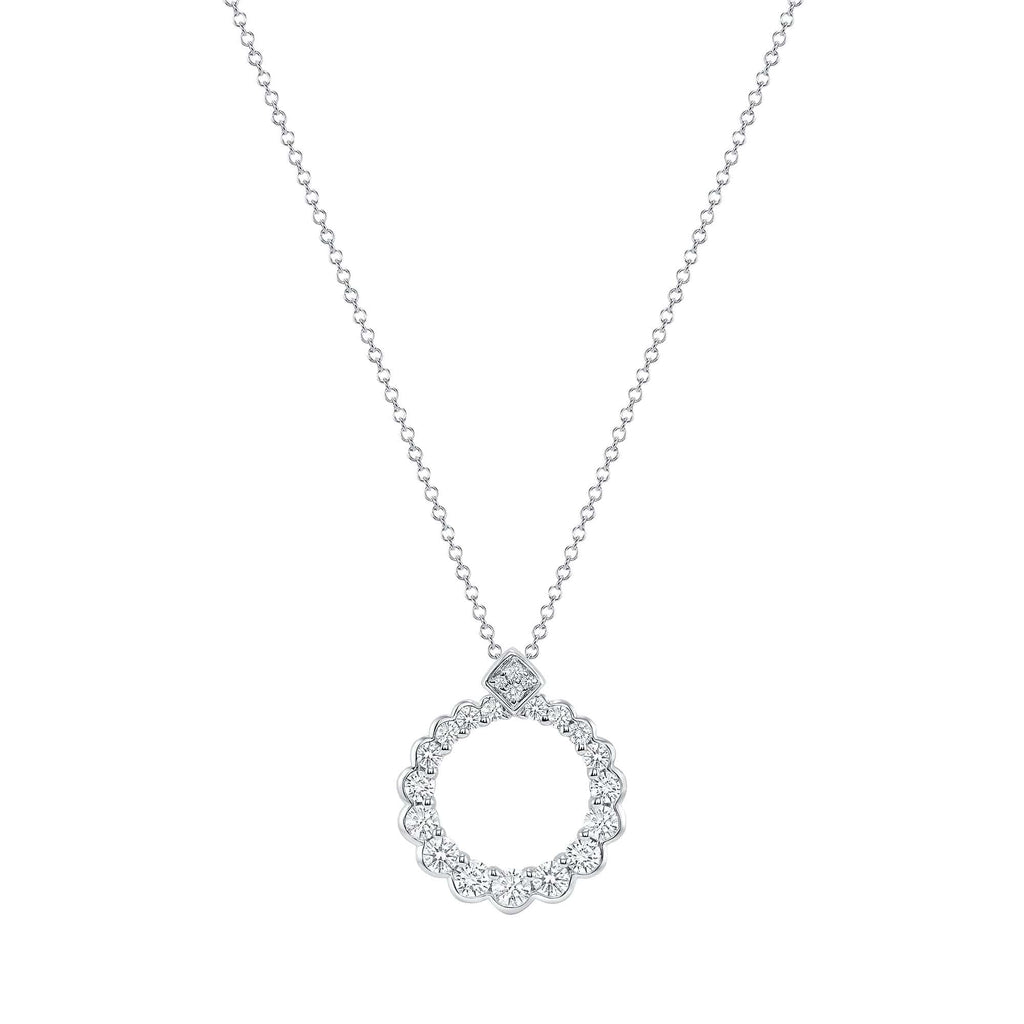 Gradual Diamond Circle Pendant - Happy Jewelers Fine Jewelry Lifetime Warranty