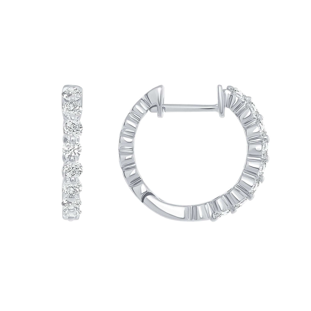 Shared Prong Mini Hoops - Happy Jewelers Fine Jewelry Lifetime Warranty