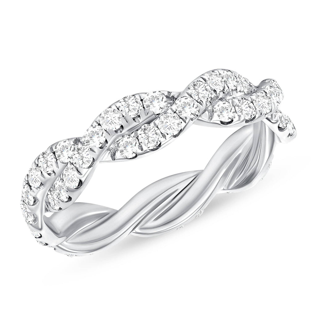 Infinity Diamond Eternity Band - Happy Jewelers Fine Jewelry Lifetime Warranty