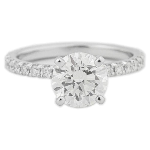 1.60 Round Brilliant Diamond Engagement Ring Solitaire Setting - Happy Jewelers Fine Jewelry Lifetime Warranty