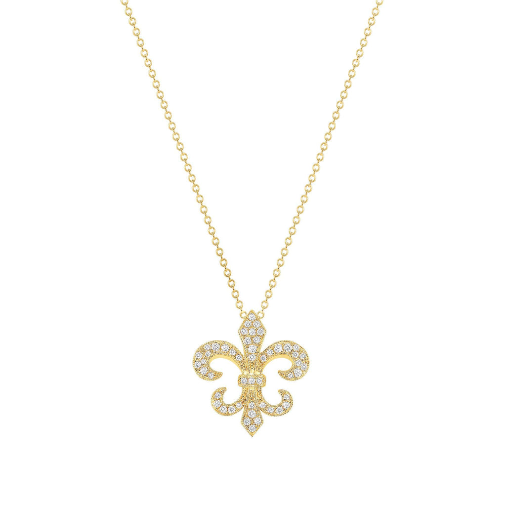 Fleur Di Lis Necklace - Happy Jewelers Fine Jewelry Lifetime Warranty