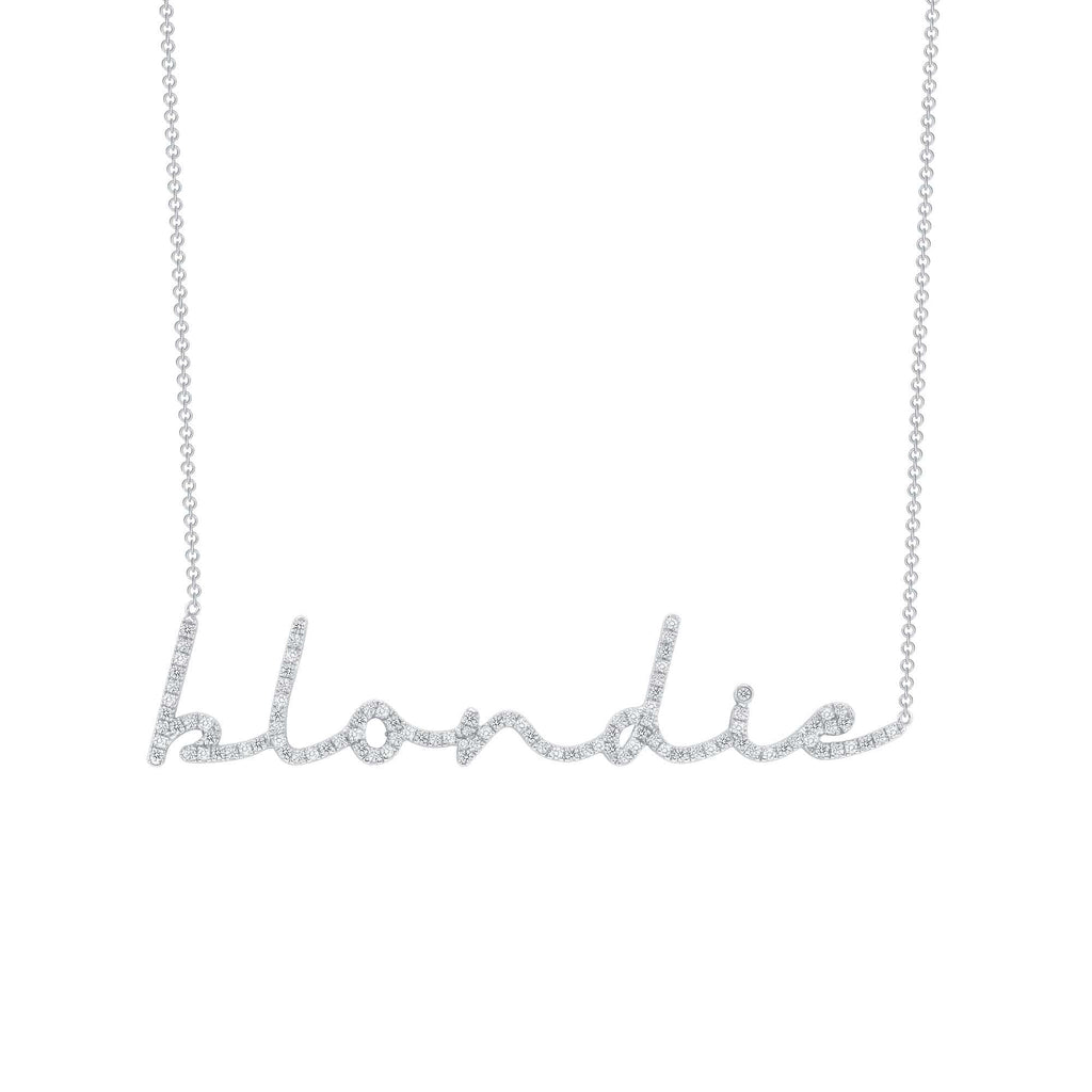 Cursive Diamond Name Necklace - Happy Jewelers Fine Jewelry Lifetime Warranty