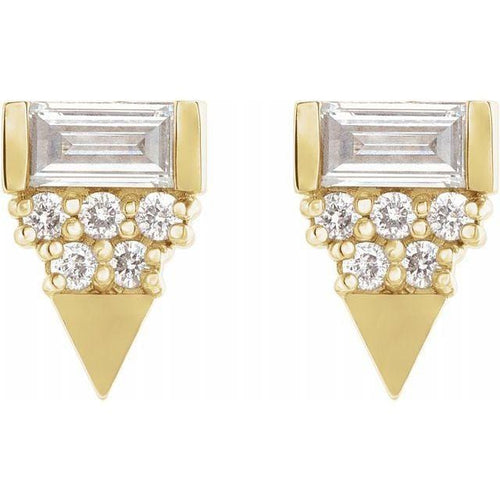 Geometric Diamond Studs - Happy Jewelers Fine Jewelry Lifetime Warranty