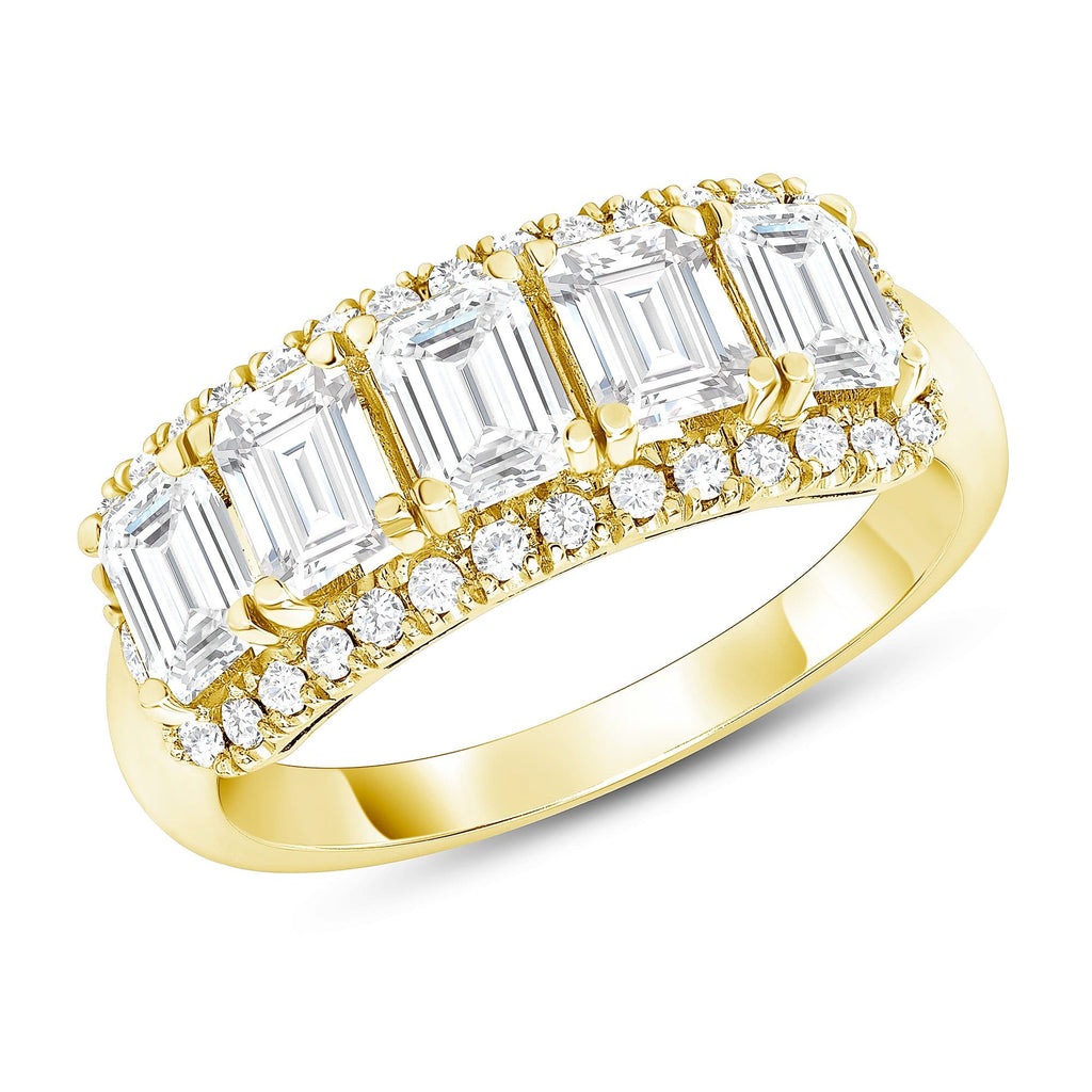 Diamond Baguette Right Hand Ring - Happy Jewelers Fine Jewelry Lifetime Warranty