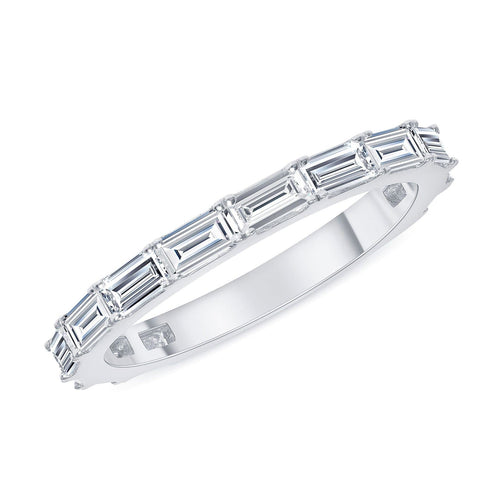 Sideways Diamond Baguette Band - Happy Jewelers Fine Jewelry Lifetime Warranty